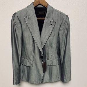 NEW Zara Woman Silk Wool Flap Pocket Blazer 10